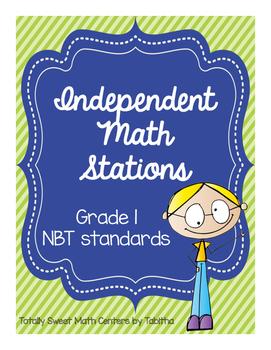 1.NBT Independent Math Stations: 1.NBT.1-6 File Folder Activities