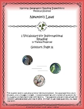 1 NGRE Newton's Laws - Vocabulary, p31