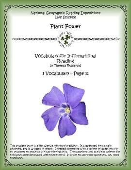 1 NGRE Plant Power - Vocabulary, p31