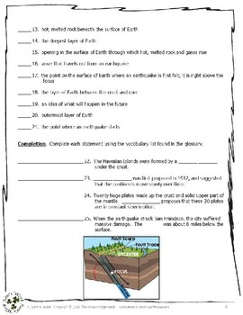 1 NGRE Volcanoes and Earthquakes - Vocabulary, p31