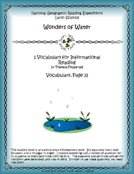 1 NGRE Wonders of Water - Vocabulary, p31