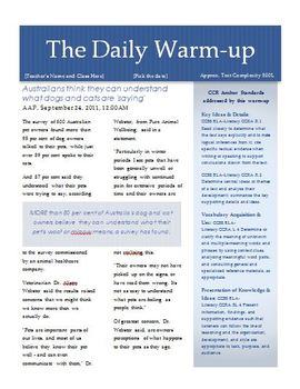 (1) News Article Warm-up for EFL Students at 500L Level