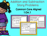 1.OA.1- Addition and Subtraction Story Problems to 20 {20 pages}