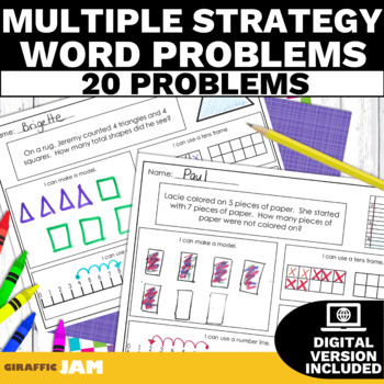 1.OA.1 Adding & Subtracting Word Problems Multiple Strategies