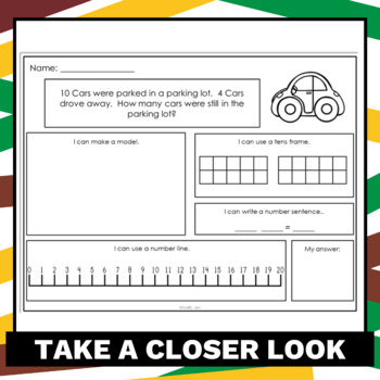Addition & Subtraction Word Problems using Multiple Strategies
