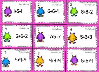 1.OA.2 Adding Three Numbers  Monster Mash