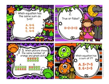 1.OA.3 October Seat Scoot Class Activity-Commutative &  Associative Properties