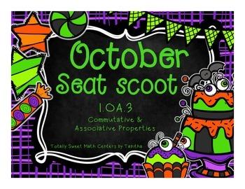 1.OA.3 October Seat Scoot Class Activity-Commutative &  As