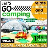 1st Grade Camping Classroom Transformation   Relate Additi