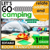 1st Grade Camping Room Transformation   Relate Addition an