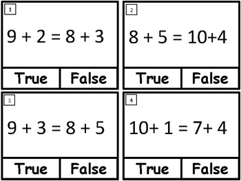 1.OA.7 Math Activities and Task Cards
