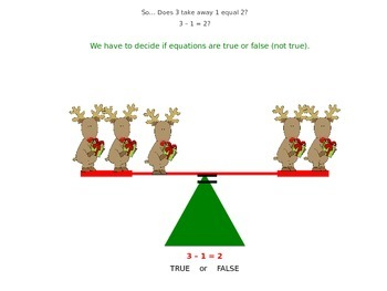 1.OA.7 The Equal Sign Interactive Lessons and Assessments (true or false)