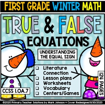 1.OA.7 True and False Equations and the Equal Sign: Winter Theme