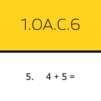 1.OA.C.6: Add and subtract within 10 (50 worksheets)