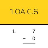 1.OA.C.6: Subtract within 10 (50 worksheets)