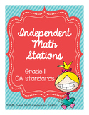 1.OA Independent Math Stations: 1OA.1-8 File Folder Activities