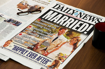 1 Page Newspaper Template Adobe Photoshop (8 5x11 inch)