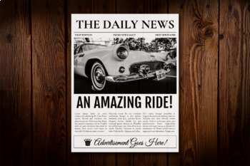 1 Page Newspaper Template Google Docs (8.5x11 inch)