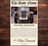 1 Page Newspaper Template Google Docs (8.5x14 inch)