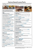 1 Page Plan Nature Based Loose Parts for Pre-Primary