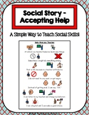1 Page Social Story - Accepting Help
