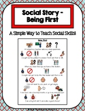 1 Page Social Story - Being First