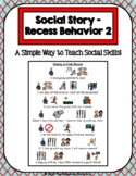 1 Page Social Story - Coming in from Recess