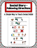 1 Page Social Story - Following Directions