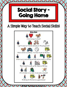 1 Page Social Story - Going Home