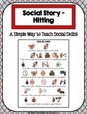 1 Page Social Story - Hitting