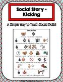 1 Page Social Story - Kicking