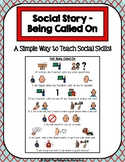 1 Page Social Story - Not Being Called On