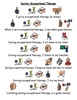 1 Page Social Story - Occupational Therapy