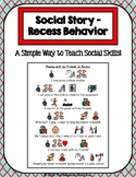 1 Page Social Story - Recess Behavior