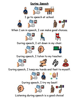 1 Page Social Story - Speech