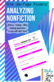 1-Pager for Analyzing Any Nonfiction Text