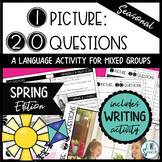 No-Prep Real Photos Language Activity for Speech Therapy Mixed Groups - Spring