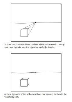 1 Point Perspective: How to Draw Boxes and a Room