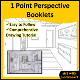 1 Point Perspective Booklets: How to Draw Boxes and a Room