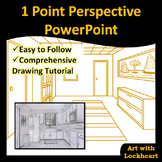 1 Point Perspective PowerPoint: How to Draw Boxes and a Room