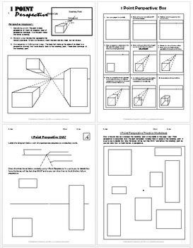1 Point Perspective Lesson Plan 1-Boxes