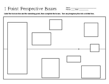1 Point Perspective Practice by The Art Supply Closet   TpT
