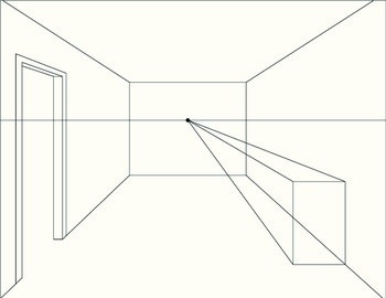1-Point Perspective Step-By-Step Picture Guide
