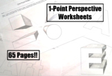 1-Point Perspective Worksheets - 65 Pages!!