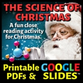 Science of Christmas / Christmas Science - Secondary Science Article & Sub Plan