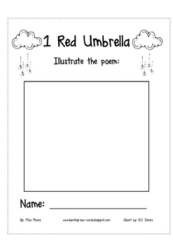 1 Red Umbrella: Rainy Day Math Collection