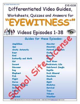 1 SSL Site License Differentiated Bundled Worksheets - 38 Eyewitness * Videos