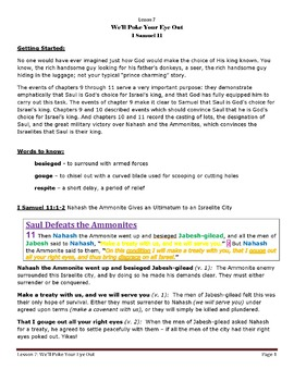 1 Samuel Bible Lesson – Chapter 11 (ESV)