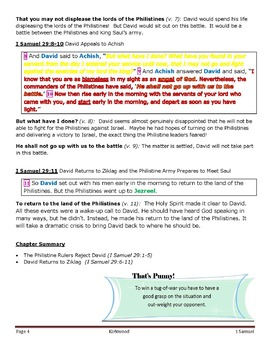 1 Samuel Bible Lesson – Chapter 29  (ESV)