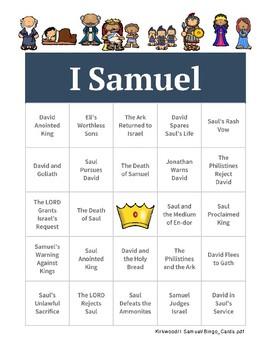1 Samuel Bingo - Chapter Headings